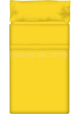 Completo Lenzuolo - Tinta Unita Giallo