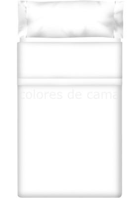Completo Lenzuolo - Tinta Unita Bianco 100 Cotone