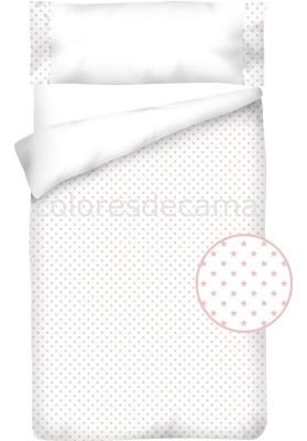 Federa da guanciale Cotone e Piquet - STELLE rosa