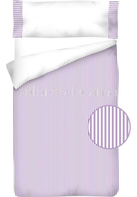 Sacco Copripiumino Cotone e Vichy - RIGUE lilla
