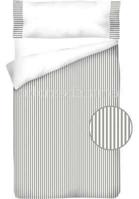 Sacco Copripiumino Cotone e Vichy - RIGUE grigio