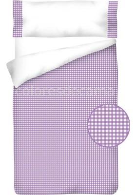 Sacco Copripiumino Cotone e Vichy - QUADRETTI lilla