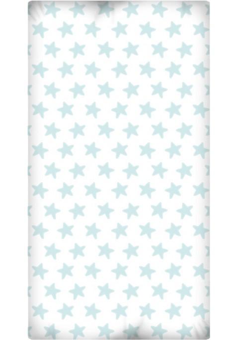 Lenzuolo da sotto con Angoli - Cotone - Estrellas Smeralde - Sfondo Bianco
