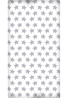Lenzuolo da sotto con Angoli - Cotone - Estrellas Grige Luna - Sfondo Bianco
