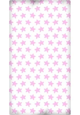 Lenzuolo da sotto con Angoli - Cotone - Estrellas Rosa - Sfondo Bianco