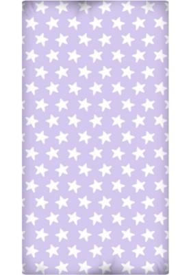 Lenzuolo da sotto con Angoli - Cotone - Estrellas Bianche - Sfondo Lilla