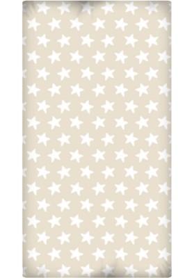 Lenzuolo da sotto con Angoli - Cotone - Estrellas Bianche - Sfondo Sabbia
