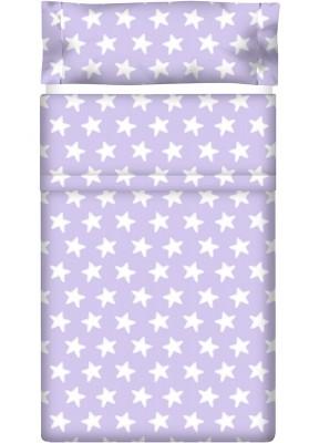 Lenzuolo di sopra Cotone - Estrellas Bianche - Sfondo Lilla