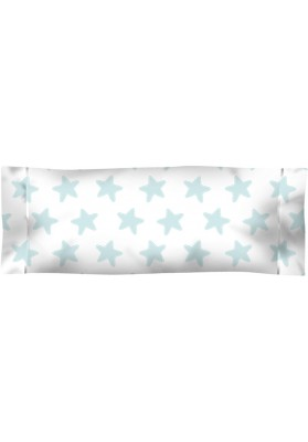 Federa da guanciale Cotone - Estrellas Smeralde - Sfondo Bianco