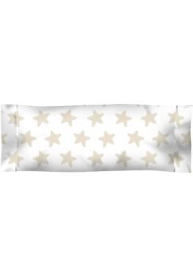 Federa da guanciale Cotone - Estrellas Sabbia - Sfondo Bianco