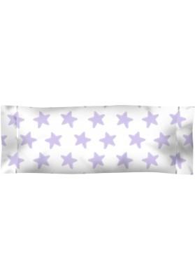 Federa da guanciale Cotone - Estrellas Lilla - Sfondo Bianco