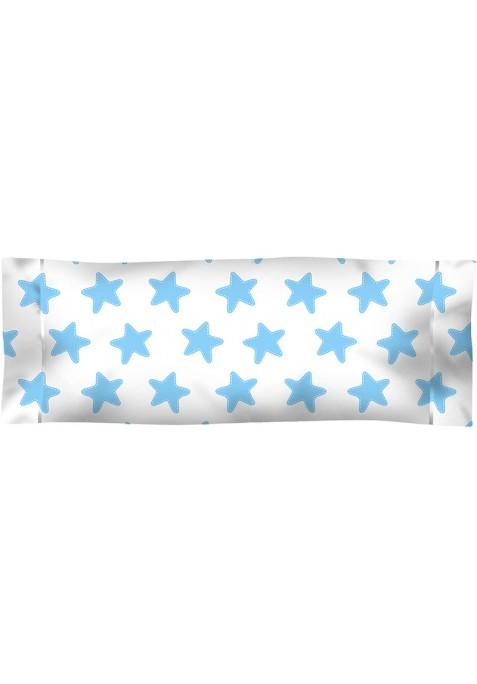 Federa da guanciale Cotone - Estrellas Azzurre - Sfondo Bianco