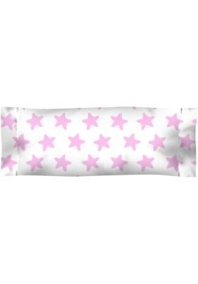 Federa da guanciale Cotone - Estrellas Rosa - Sfondo Bianco