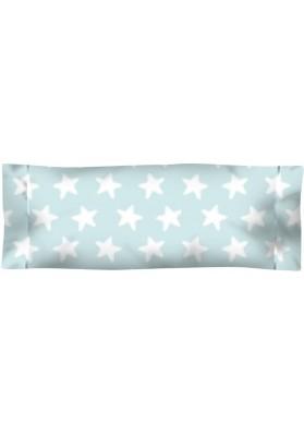 Federa da guanciale Cotone - Estrellas Bianche - Sfondo Smeraldo