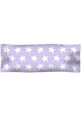 Federa da guanciale Cotone - Estrellas Bianche - Sfondo Lilla