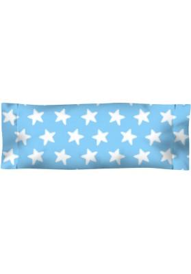 Federa da guanciale Cotone - Estrellas Bianche - Sfondo Azzurro
