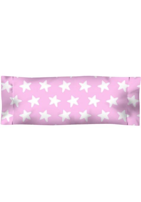 Federa da guanciale Cotone - Estrellas Bianche - Sfondo Rosa