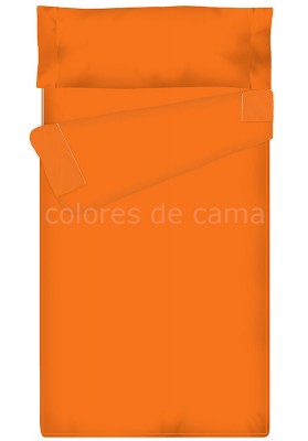 "Completo ""Pronto per Dormire"", Estensibile , Tinta Unita arancio"
