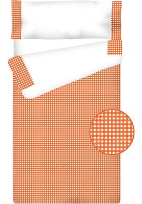 """Completo """"Pronto per dormire"""" con cerniera e estensibile Cotone e Vichy - QUADRETTI arancio"""