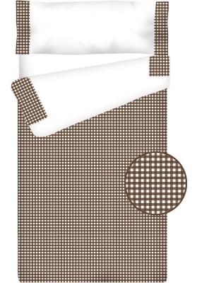 """Completo """"Pronto per dormire"""" con cerniera e estensibile Cotone e Vichy - QUADRETTI cioccolato"""