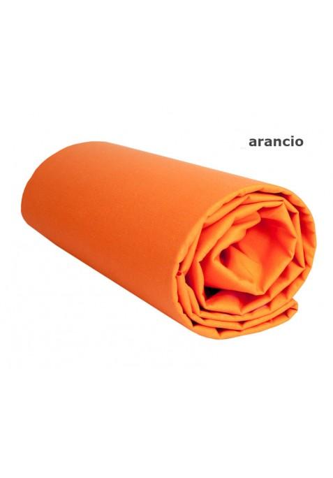 Lenzuolo sotto con Angoli - Tinta Unita Arancio