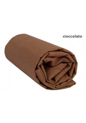 Lenzuolo sotto con Angoli - Tinta Unita Cioccolato