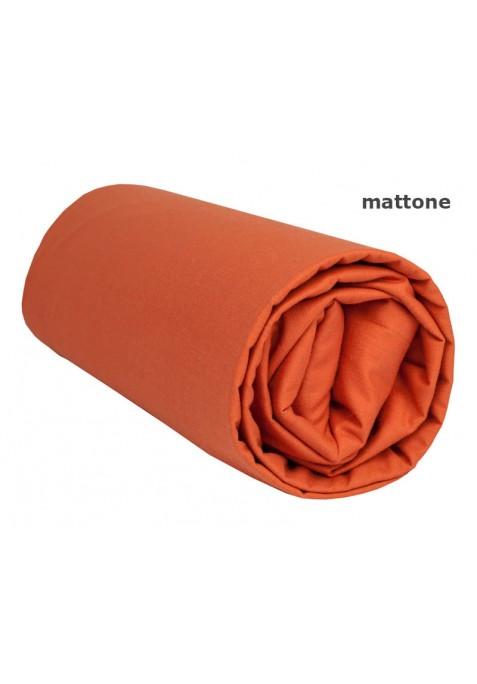 Lenzuolo sotto con Angoli - Tinta Unita Mattone