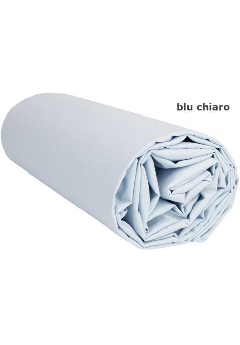 Lenzuolo sotto con Angoli - Tinta Unita Blu Chiaro
