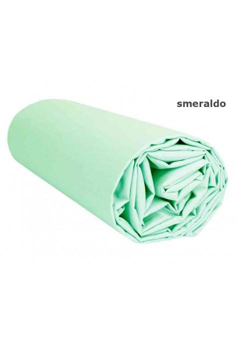 Lenzuolo sotto con Angoli - Tinta Unita Smeraldo