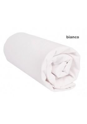 Lenzuolo da sotto con Angoli - Tinta Unita Bianco 100 Cotone