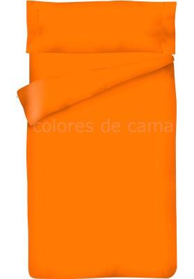 Completo Copripiumino - Tinta Unita Arancio