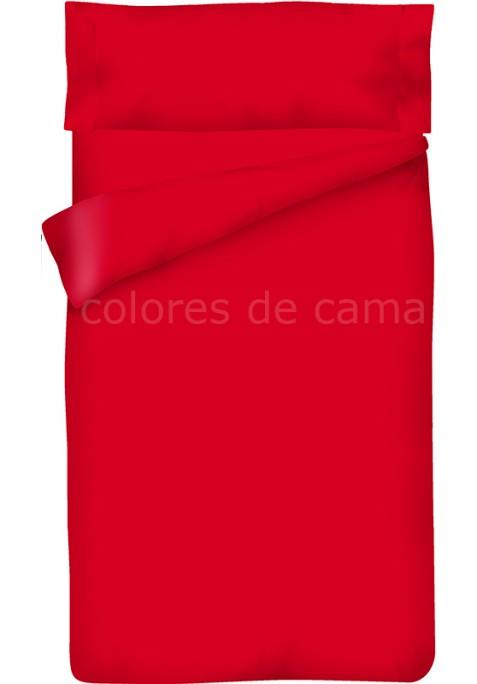 Completo Copripiumino - Tinta Unita Rosso