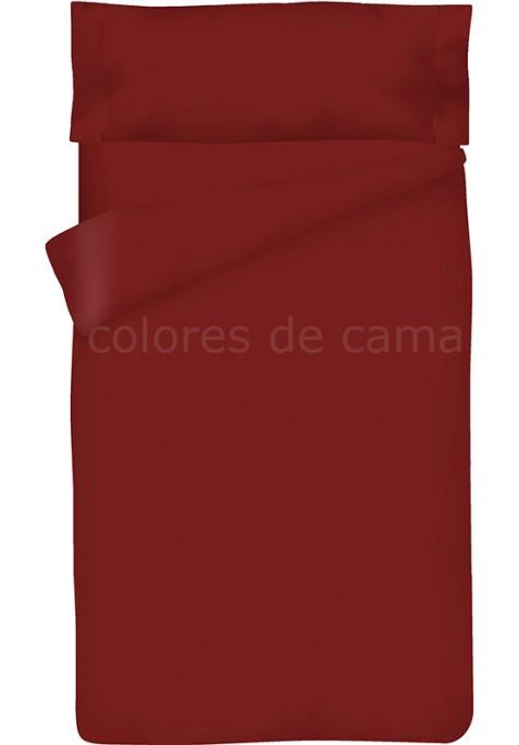 Completo Copripiumino - Tinta Unita Granata
