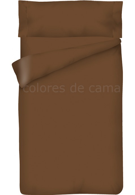Completo Copripiumino - Tinta Unita Cioccolato