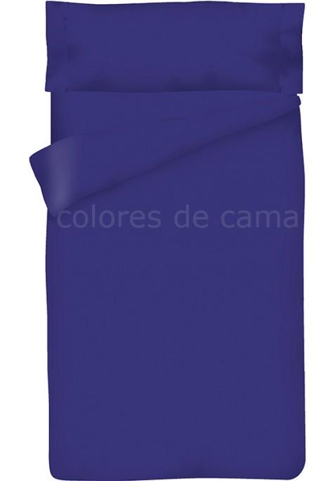 Completo Copripiumino - Tinta Unita Blu Scuro