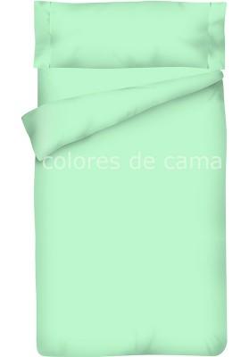 Completo Copripiumino - Tinta Unita Smeraldo