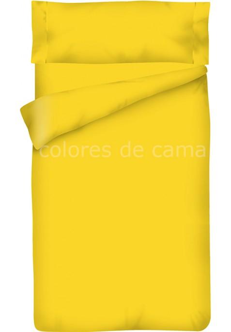 Completo Copripiumino - Tinta Unita Giallo