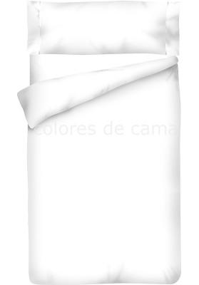 Completo Copripiumino - Tinta Unita Bianco 100 Cotone