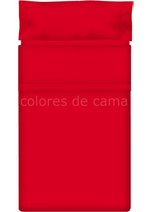 Completo Lenzuolo - Tinta Unita Rosso