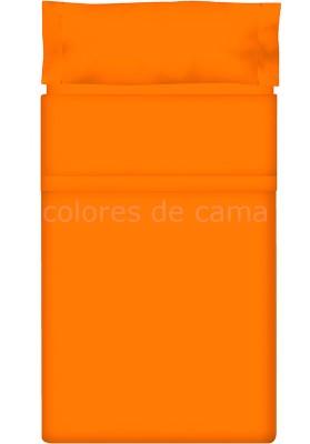 Completo Lenzuolo - Tinta Unita Arancio