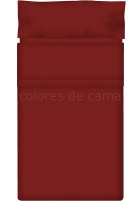Completo Lenzuolo - Tinta Unita Granata