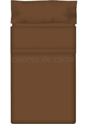 Completo Lenzuolo - Tinta Unita Cioccolato