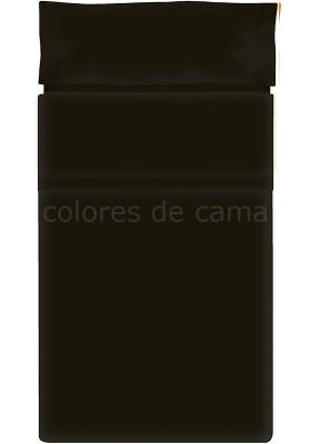 Completo Lenzuolo - Tinta Unita Nero
