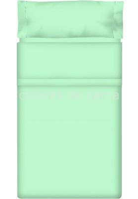 Completo Lenzuolo - Tinta Unita Smeraldo